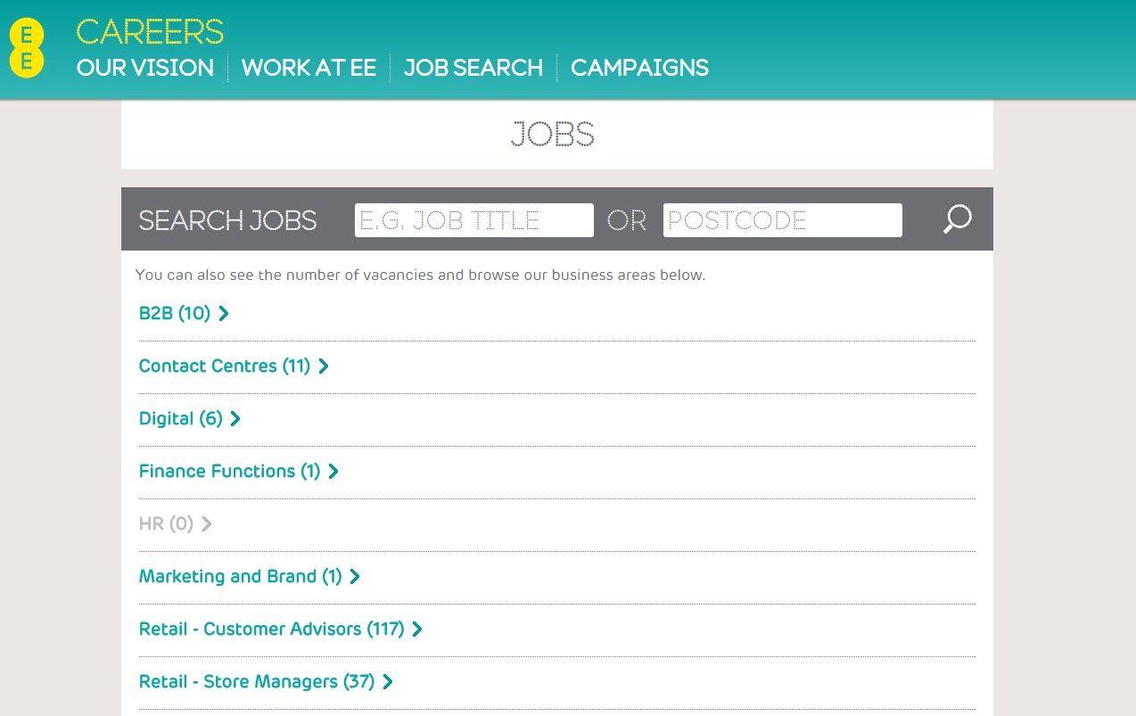 EE's Career Site