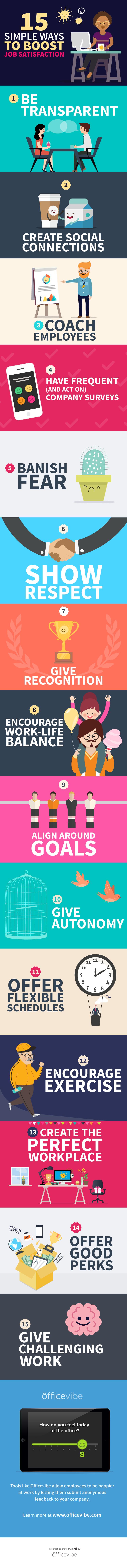 15 Simple Ways To Boost Job Satisfaction